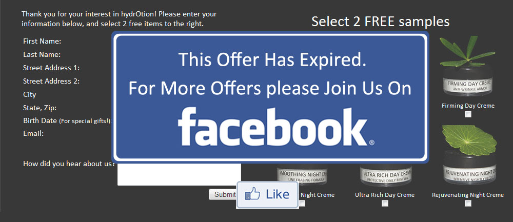 Offer expired - like us on facebook for more!